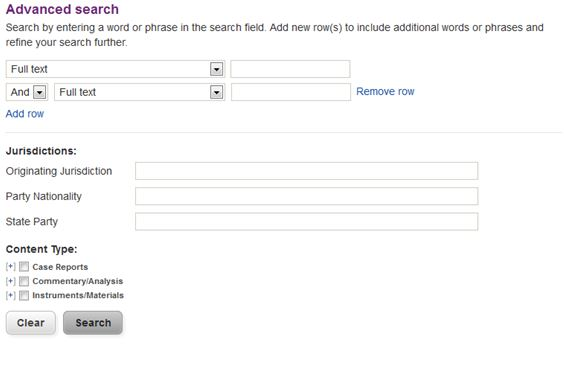 oxia advanced search page